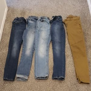 Lot of 5 Boys Zara Jeans Pants Good Used Condition
